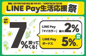 増税を吹き飛ばせ‼LINE Pay生活応援祭