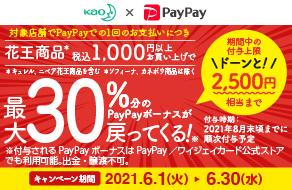 Kao×PayPay 最大30%分のPayPayボーナスが戻ってくる!